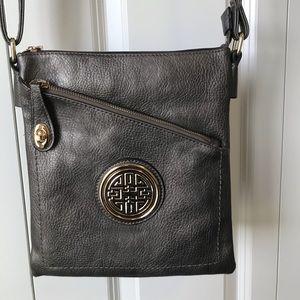 Grey cross body purse